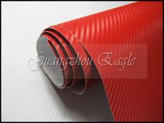 Red 3D Carbon Fiber For Your Hot Taste ... Size 1.52 x 30 Meter High Quality Carbon for your Car Wrapping  Visit www.guangzhoueagle.com for more colors and styles of Carbon Wraps to choose from