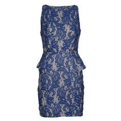 The peplum model is very popular these days and was all over fashionweek 2012-2013. This great dress has a beautiful peplum  model and a slim fit. The blue and beige lace print is very classy and girly. So it's time to shine girl!  www.2dayslook.com