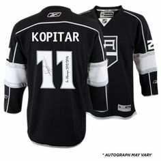 Anze Kopitar Los Angeles Kings 2014 Stanley Cup Champions Autographed Black  Reebok Jersey with SC Champs f2483fa11