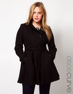 Enlarge ASOS CURVE Fit And Flare Coat