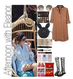 """""""Afternoon with Eleanor"""" by narryismybae ❤ liked on Polyvore featuring Prada, United by Blue, Nika, Casetify, Lancôme, Disney and Nails Inc."""