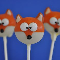Cute cake pops at a What Does the Fox Say? Description from pinterest.com. I searched for this on bing.com/images
