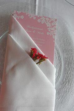Menükarten in rosa - die Kartenmacherei - Mr & Mrs - kleine Hochzeit zu…