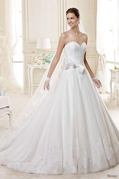 nicole spose bridal 2015 style 20 niab15073iv sweetheart neckling princess a line wedding dress