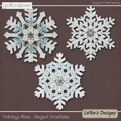 Holidays Allure - Elegant Snowflakes