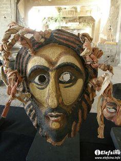 Masks of the Aeschylia Festival . Eleusis