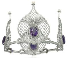 An amethyst and diamond tiara. Christie's.