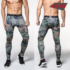 Mens Compression Pants Crossfit Tights Men Bodybuilding Pants Trousers Camouflage Joggers #leggings #fitnessapparel #pants #activewear #amalhantashfitness #sportswear