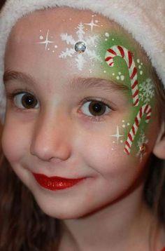 Super Painting Face Kids Galleries Ideas - Face painting for work - Bodysuit Tattoos, Face Painting Designs, Paint Designs, Tinta Facial, Christmas Face Painting, Christmas Face Paint Ideas, Cheek Art, Kids Makeup, Face Makeup