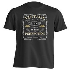 7866086e3e6f 16th Birthday Gift T-Shirt - Born In 2000 - Vintage Aged 16 Years To