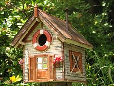 Birdhouse perfect for a lake house.
