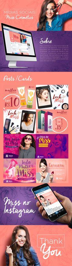Projeto de Mídias Sociais para Miss Cosmetics