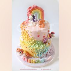My Little Pony - Cake by Guilt Desserts