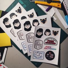 MY FAVORITE MURDER STICKER SHEET  Inspired by the amazing podcast by Georgia Hardstark and Karen Kilgariff - My Favorite Murder.  Each sticker sheet comes with a set of 8 stickers featuring quotes from the show, Karen, Georgia, and, of course, Elvis. The My Favorite Murder sticker sheet is perfect for all murderinos who want to show of their love for true crime and murder.  The My Favorite Murder sticker sheet is printed on quality sticker paper and is not water proof nor recommended for…