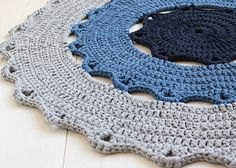 Crochet doily rug pattern Hebrew version how to by MalkishuArt
