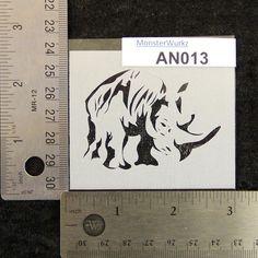 Hey, I found this really awesome Etsy listing at https://www.etsy.com/listing/229051915/rhino-stencil-3-x-2-12-7-mil-an013