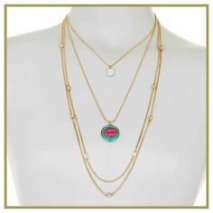 """Betsey Johnson Worn once. Like new. 18"""" gold-tone, pave crystal lips Betsey Johnson Jewelry Necklaces"""
