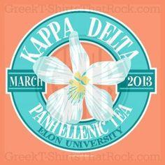Kappa Delta Panhellenic Flower Bid Day, Recruitment, and Rush Shirts. Call us Today! 800-644-3066