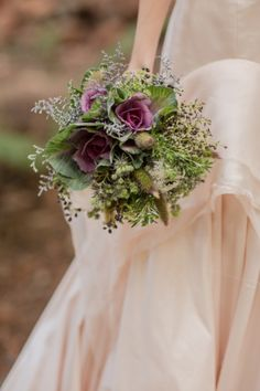Feature Flower grouped to one side Fall Wedding Boquets, Woodsy Wedding, Fall Wedding Flowers, Farm Wedding, Floral Wedding, Forest Wedding, Autumn Wedding, Wedding Dresses, Boho Wedding Dress Bohemian