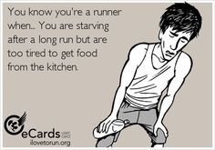 Starving after a long run, but too tired to get food from the kitchen