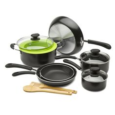 Ecolution Heavy Weight Non-Stick 12-Piece Cookware Set 5 Qt. Dutch Oven with Steam Vented Glass Lid, Silicone Steamer, and 2 Bamboo Tools ** See this great product.