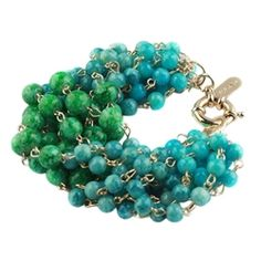 Chunky Beaded Color Block Bracelet, $39. Available in more colors.