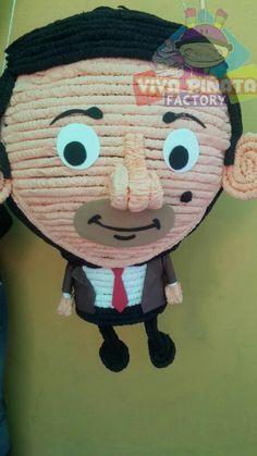 Piñata Mr. Bean... Quien no era fan de este gran personaje? Recuerden ya contamos con servicio  de Dj para tus fietas. Mr Bean Birthday, Birthday Parties, Mr. Bean, 2019 Calendar, 5 Years, Dahlia, Minions, Beans, Party