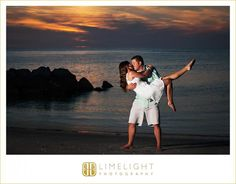 Limelight Photography, www.stepintothelimelight.com, Engagement, Fort Desoto, Florida, Photography, Beach, Blue, White, Kiss, Sunset