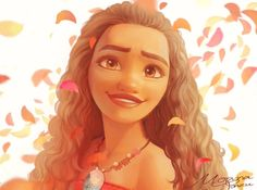 Moana and flower petals Moana Disney, Arte Disney, Disney Magic, Disney Films, Disney And Dreamworks, Disney Pixar, Disney Characters, Disney Princess Art, Disney Fan Art