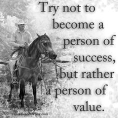 Become a person of value. #valuesuccess