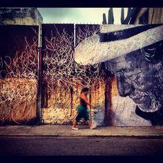 Beautiful. In progress for the Havana Biennial.   artists: José Parla + JR  location: Havana, Cuba  #art #streetart