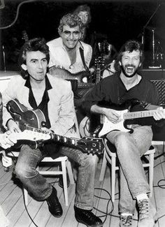 George Harrison, Eric Clapton and Carl Perkins