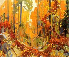 """Tom Thomson - """"Autumn's Garland""""; Canadian Group of Seven - I think this is my all-time Tom Thomson favourite"""