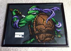 Custom TMNT Donatello Perler Bead Sprite Wall Art by SDKD on Etsy, $84.00