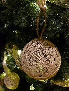 String ornaments- like them with twine
