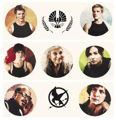 #CelebrateYourVictors: Finnick, Peeta, Johanna, Mags, Katniss, Beetee & Wiress