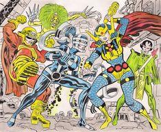 Alex Chung, Big Barda versus The Female Furies by Tom Scioli Female Furies, Alex Chung, Doom 2, Comic Art, Comic Books, Big Barda, New Gods, Jack Kirby, Weird World