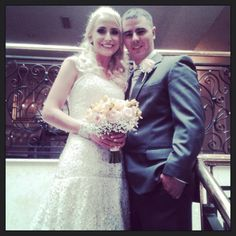 Jo-Anne and Gerard on their Wedding Day at the Ashdown Park Hotel.