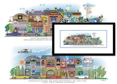 What a cute gift when it's time to retire. You give them pics of homes, cars and other memorable things and they combine them all in a print. Military, army, spouse gift