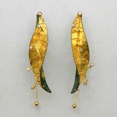 <3     Sundew for Venus Bimetal 22K Gold/Sterling Silver, 18K Gold, 14K Gold, Diamonds       Earrings - Studio Numen