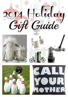 The 2014 Holiday Gift Guide | The Mindful Shopper | A curated collection of the coolest gifts, all in one place! Cheers to a no-hassle holiday shopping season!