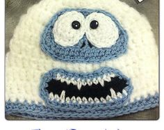 Crochet Baby Hats Ravelry: Bumble Hat - Abominable Snowman Rudolf pattern by R Solberg. Sizes availabe are 6 months to adult - Sizes availabe are 6 months to adult Crochet Kids Hats, Crochet Beanie, Crochet Crafts, Yarn Crafts, Free Crochet, Crocheted Hats, Knit Hats, Crochet Cap, Knitted Hat