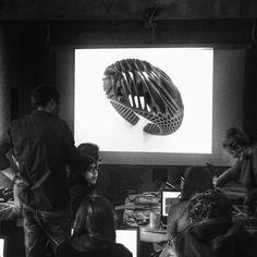 Algorithmic Accessories V1.0 Day 3.0 booting up soon!  Taught by Eva Tucek - Experienced jeweler and part of mostlikely fablab Radul Shishkov - of DesignMorphine and Tsvetelina Georgieva - of DesignMorphine.  #grasshopper3d #keyshot #parametric #generative #algorithm #design #art #architecture #sculpture #superarchitects #nextarch #architecturelovers #mesh #3d #model #computational #geometry #shape #TalentedPeopleInc  #next_top_architects #rhino #fabrication #jewelry #ring #necklace…