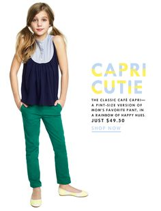 Adorable Crew Cuts outfit.