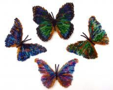 Beaded Butterfly Patterns by Katherina Kostinsky at Bead-Patterns.com!
