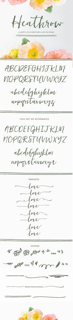 Heathrow Font - Script