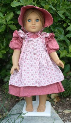 American Girl Prairie Dress in Rose by RuthielovestoSew on Etsy, $38.00