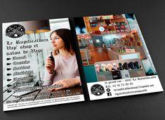 Creation Flyer Rupificaldien Vap - Vape Shop La Rochefoucauld. Boutique et salon de vape, tarifs défiant toute concurrence. Conseils, Matériels, Liquides Creation Flyer, Graphic Design Studio, Vape Shop, Creations, Boutique, Shopping, Salons, Advice