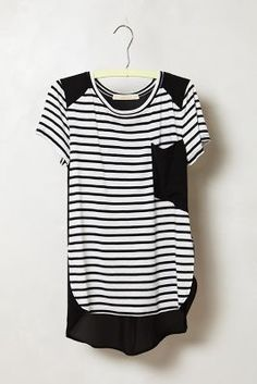 Anthropologie Toppled Pocket Tee