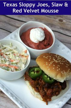Texas Sloppy Joes, Slaw and Red Velvet Mousse  using FlavorPrint from @mccormickpsice by @makobiscribe #MyFlavorPrint